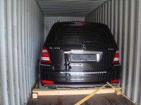Погрузка в контейнер автомобиля